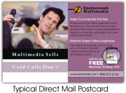 Eastonsweb Multimedia Direct Mail Postcard
